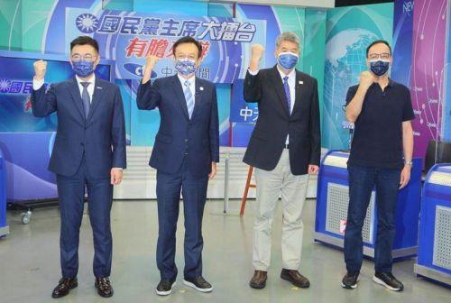江启臣祝贺朱立伦当选国民党主席-1