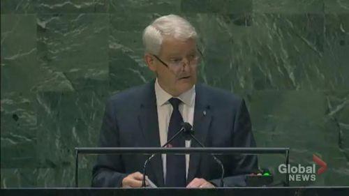 中国代表在联合国一对二激辩加方-1